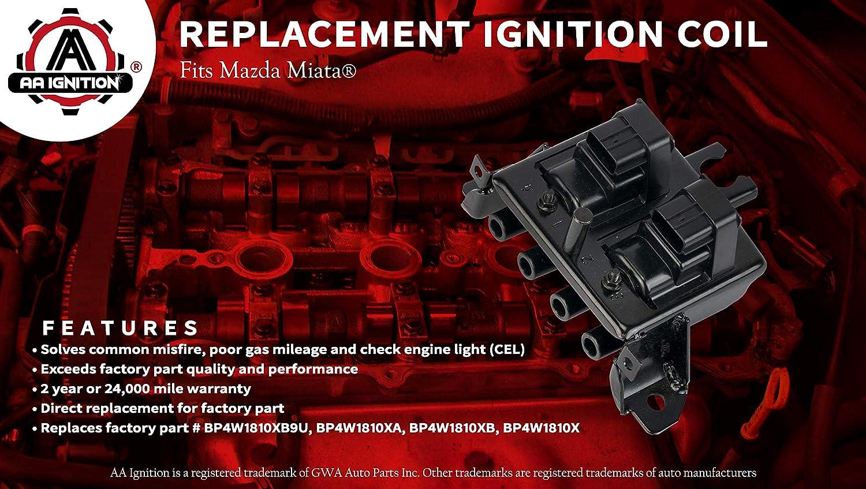 Pour Mazda MX-5 MX5 1.8 16v 1998-2005 Allumage Bobine Pack BP4W1810XA