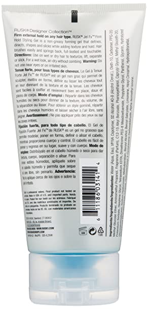 Amazon.com: RUSK Designer Collection Jel Fx Firm Hold Styling Gel, 5.3 fl. oz.: Rusk: Luxury Beauty