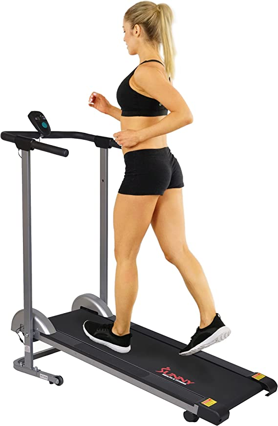 Sunny Health & Fitness SF-T1407M Foldable Manual Walking Treadmill