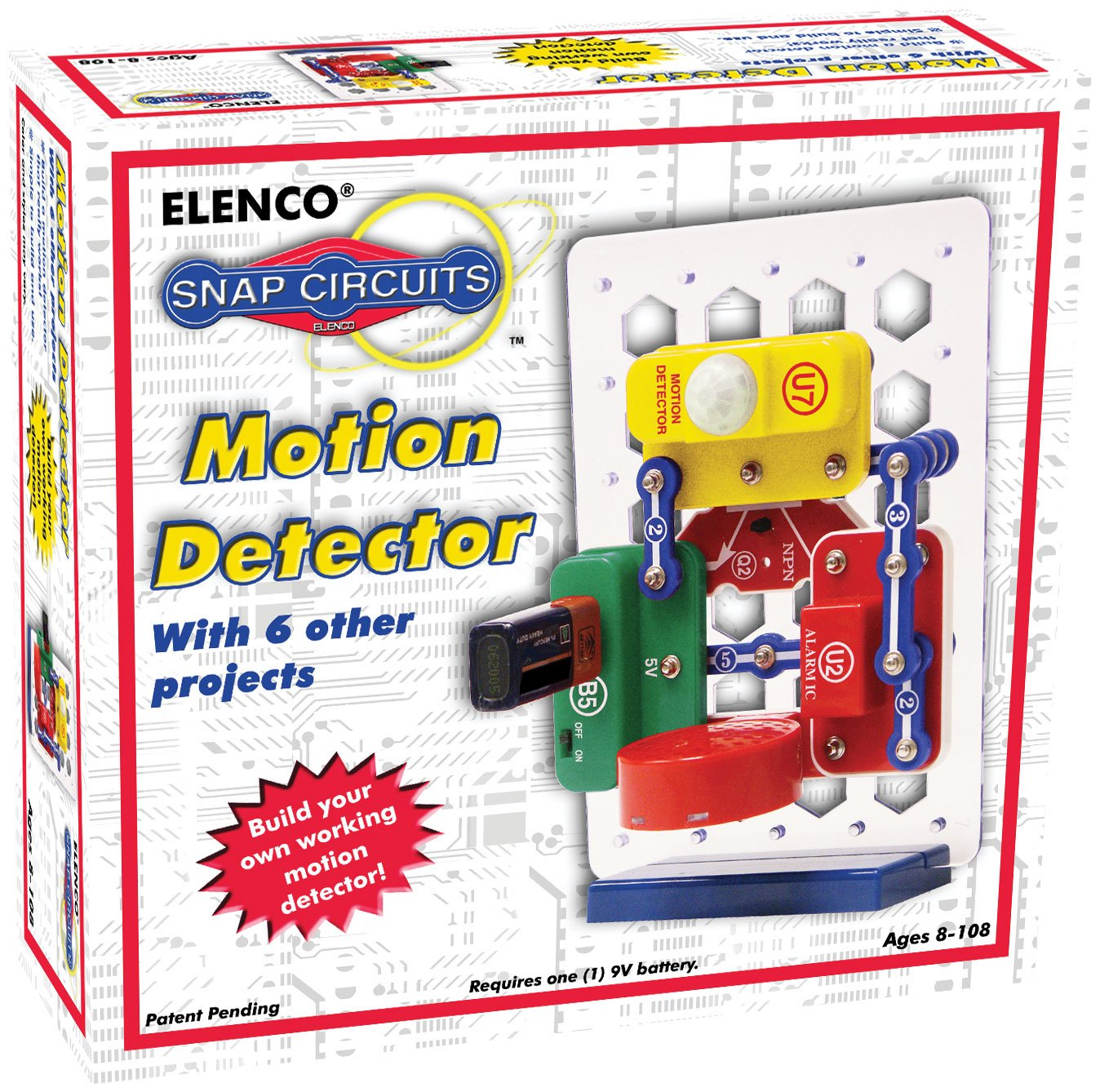 Elenco Snap Circuits Motion Detector Kit Toys Games Lights Electric Circuit Science By