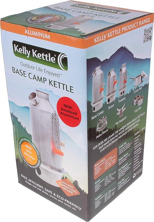Kelly Kettle Gro/ßer Wasserkessel Base Camp Kelly Kettle Aluminium 1,5 l 1,5 l F/üllmenge