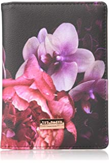 dc4882326e978f Ted Baker ATED398 Splendor Pink Floral Luxury Faux Leather Travel Document  and Passport Holder