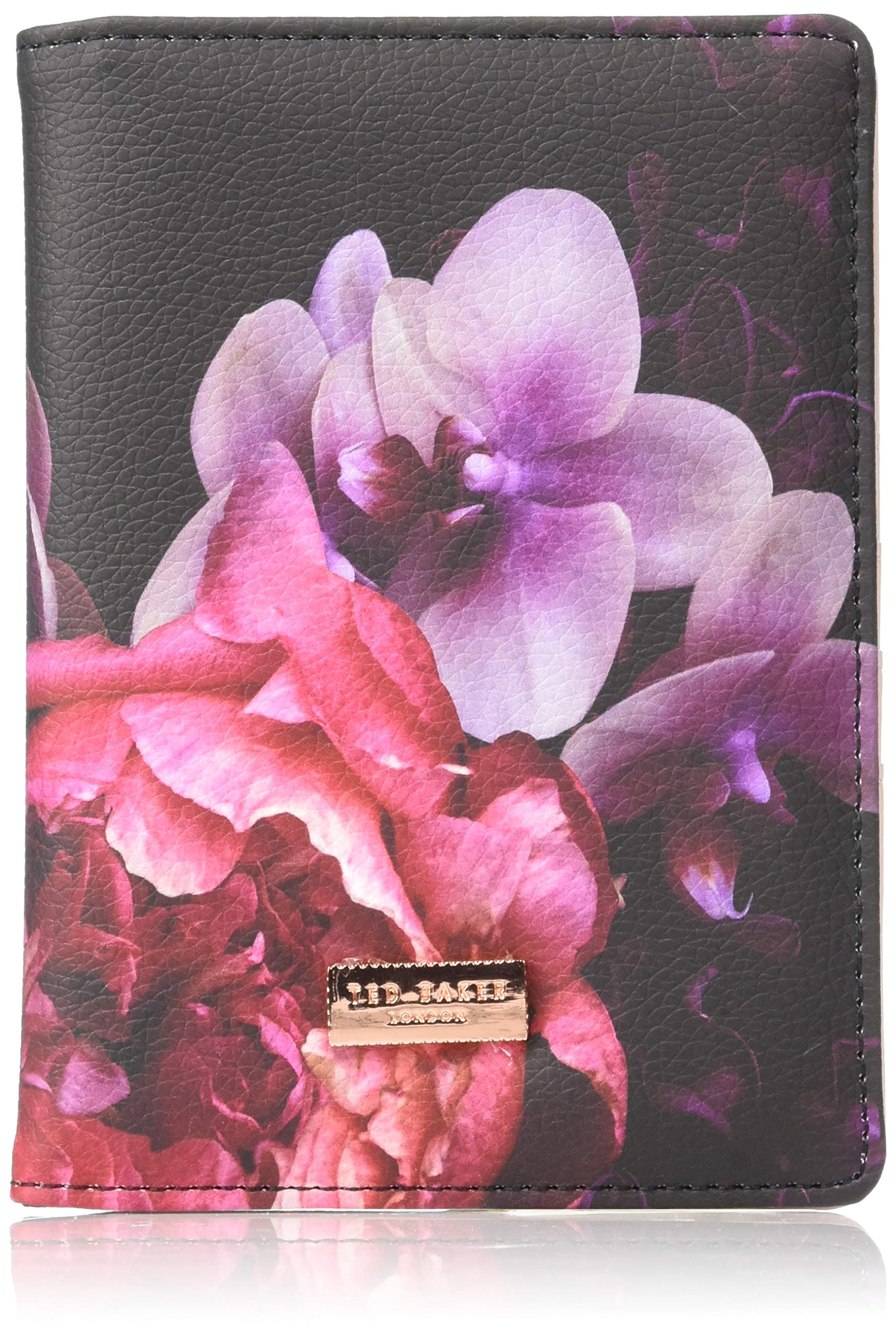 Ted Baker ATED398 Splendor Pink Floral Luxury Faux Leather Travel Document and Passport Holder, Multi by Ted Baker