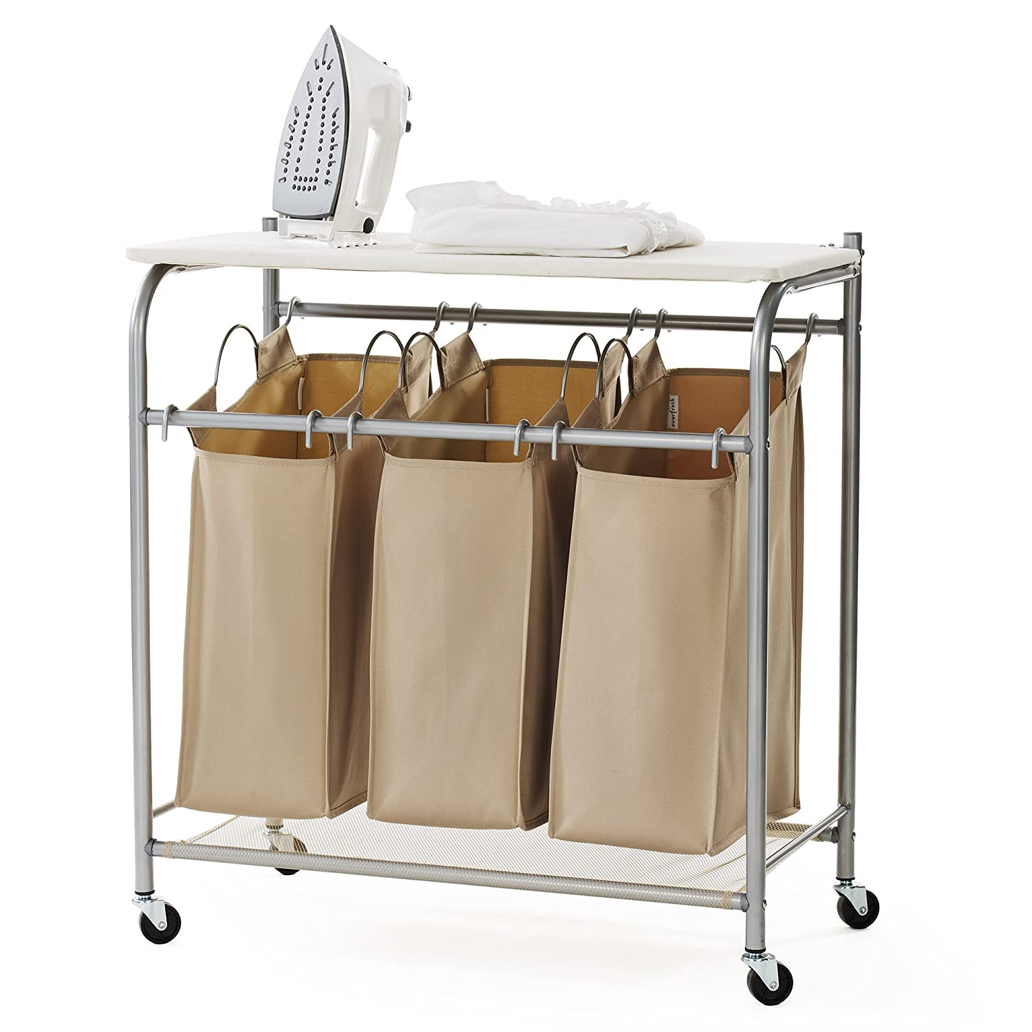 neatfreak U5479-EFST Triple Sorter with Ironing Board and Everfresh A-U5479-002X1-EFST