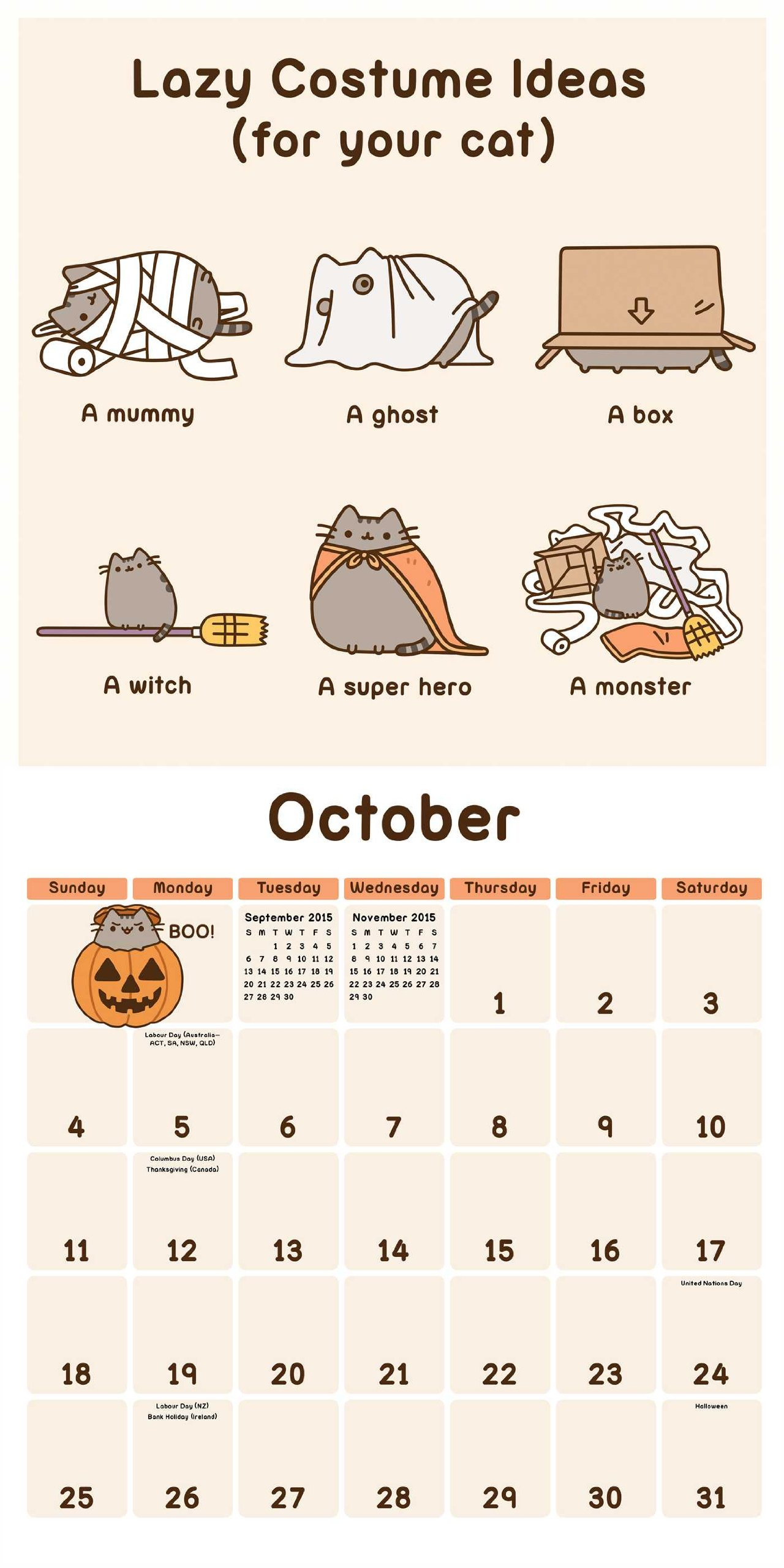 Pusheen the Cat 2015 Calendar: Amazon.es: Claire Belton ...