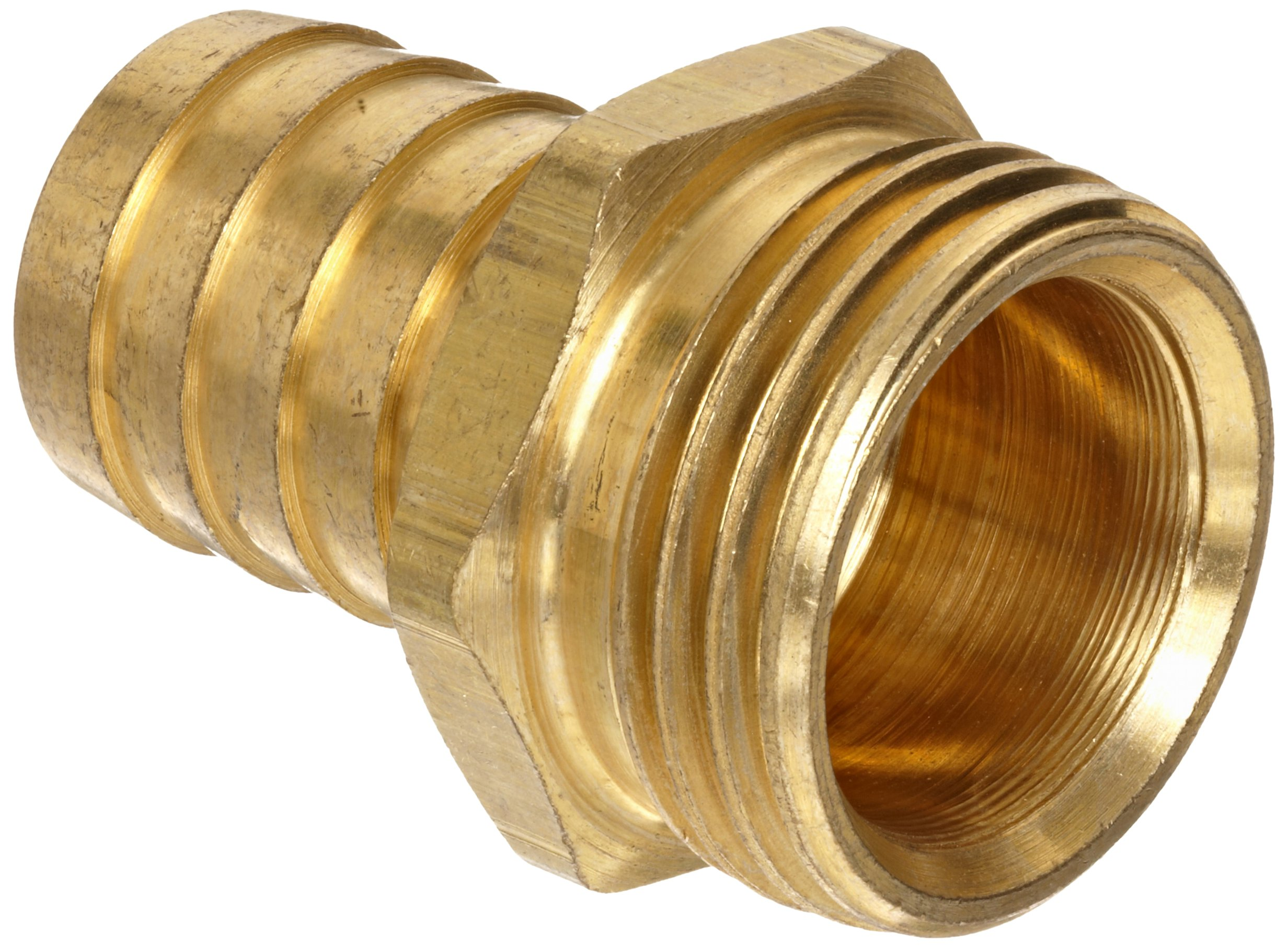 Anderson Metals Brass Garden Hose Fitting, Connector, 3/4'' Barb x 3/4'' Male Hose