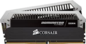 Corsair Dominator Platinum 16GB (2x8GB) DDR4 3000MHz C15 Desktop Memory, Black