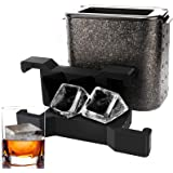 Large Clear Ice Cube Trays, Ticent Crystal Clear Ice Cube Maker - Square Ice Mold Jumbo Clear Ice Cube for Whiskey…