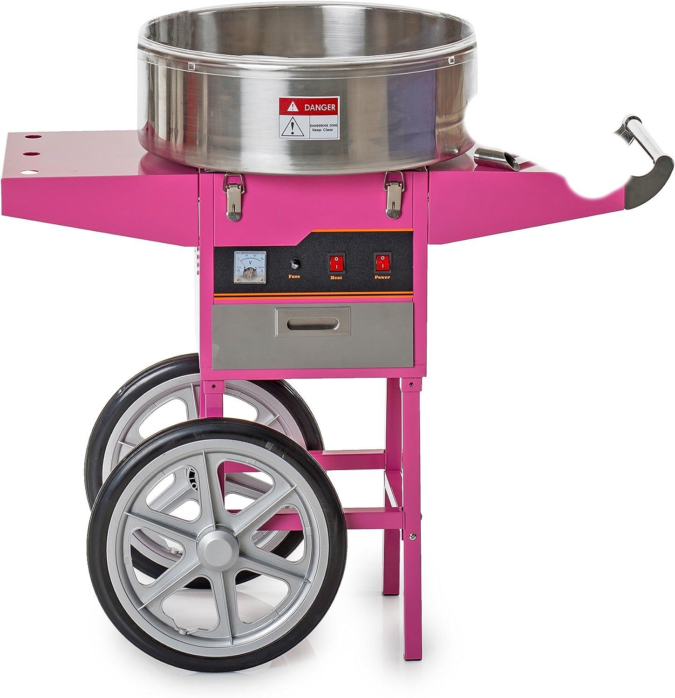 Pajoma 50292 - Máquina de algodón de azúcar, con carretilla, 86 x 52 x 93 cm: Amazon.es: Hogar