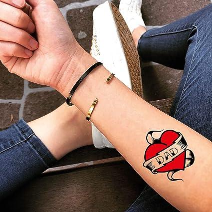 Tatuaje Temporal de Papá corazón (2 Piezas) - www.ohmytat.com ...