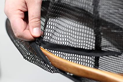 Fly Fishing Landing Nets Clear Rubber Replacement Mesh Bag Safe Catch /& Release