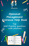Openmat Management Entrance Help Book: Top 200 Practice questions  with solutions