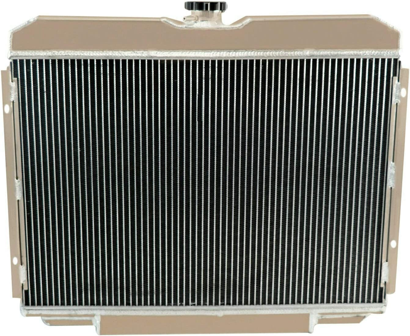 ALLOYWORKS 4 Row All Aluminum Radiator+Shroud Fan+Relay Kit For 1967-1970 Ford Mustang //1968 1969 Mercury Cougar