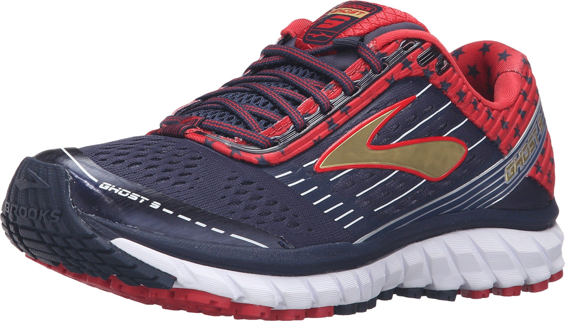 Brooks Women's Ghost 9 Peacoat Navy/True Red/Gold Running shoes - 9.5 B(M) US