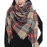 Trendy Plaid Blanket Scarf Women Big Oversized Long Scarves Warm Winter Tartan Checked Shawl Wrap Scarf Gift
