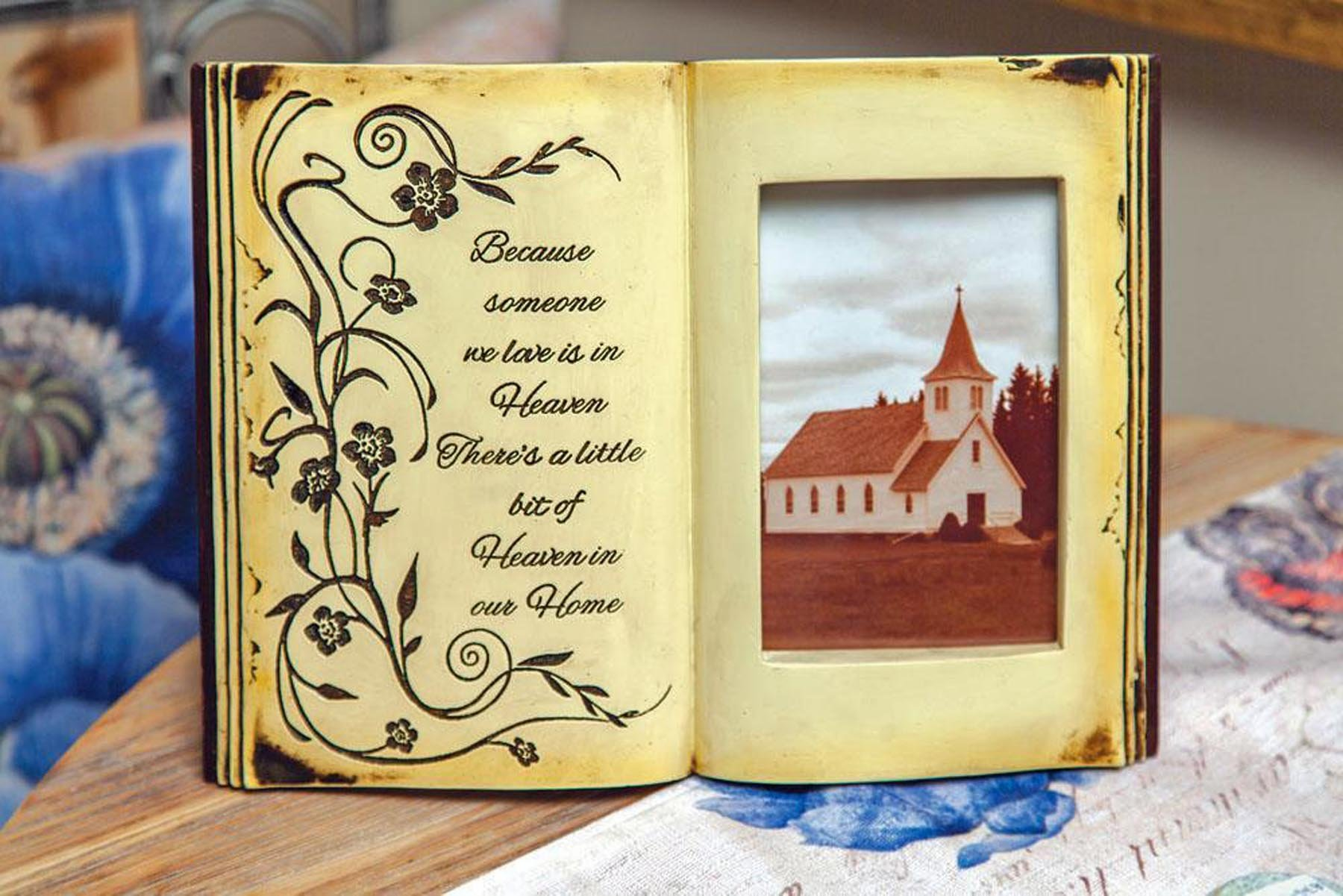 MW Heaven In Our Home Memorial Book Photo Frame 11.5X8.25X1.5