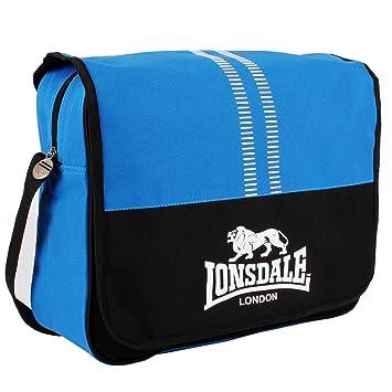 a629677c48f Lonsdale Messenger Bag Blue Black Sports Flight Bag Gymbag Kitbag H  38cm  W