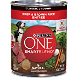 Purina ONE SmartBlend Natural Classic Ground Beef & Brown Rice Entree Adult Dog Food, 13 oz, Case of 12, 12 X 13 OZ