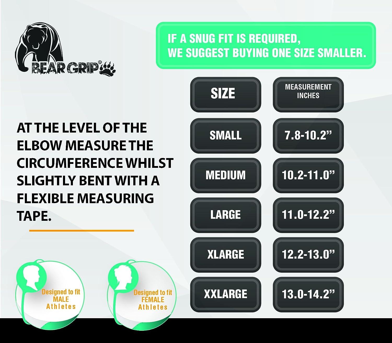 BEAR GRIP/ /Premium 5/mm Coude de Compression Manches Vendu en Paires