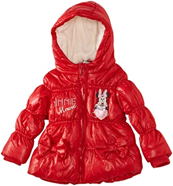759b542a0dea Disney Minnie Mouse Baby Girls  Puffer Coat Red 6 Months  Amazon.co ...