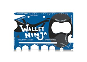 LIMITED EDITION: MATTE BLUE Wallet Ninja- 18 in 1 Credit Card Sized Multitool (#1 Best Selling in the World)