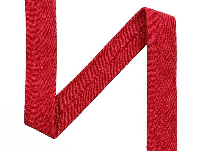 Das h/üpfende Komma 1m Jersey-Schr/ägband Farbe blau Uni