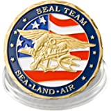 U.S. Navy SEAL TEAM Military Challenge Coin, Pack of 1