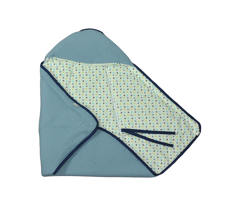 universal para portabeb/és Manta enveloppante MoMika Auto asiento Paseo o cuna de piqu/é 100/% algod/ón 80x80cm para carrito