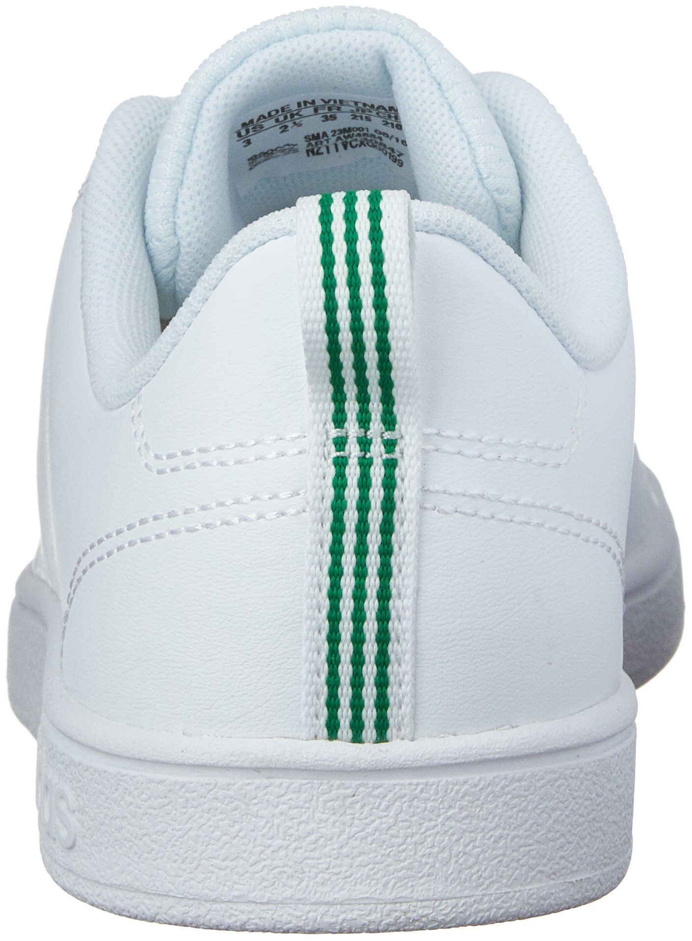 adidas Kids' VS Advantage Clean Sneaker, White/White/Green, 1.5 M US Little Kid by adidas (Image #2)