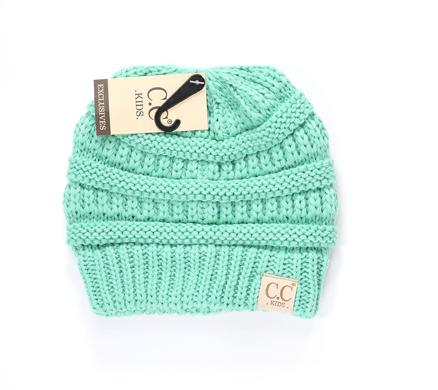 bd1e9f53859 Women s Kids Solid CC Beanie One Size Beige at Amazon Women s Clothing  store