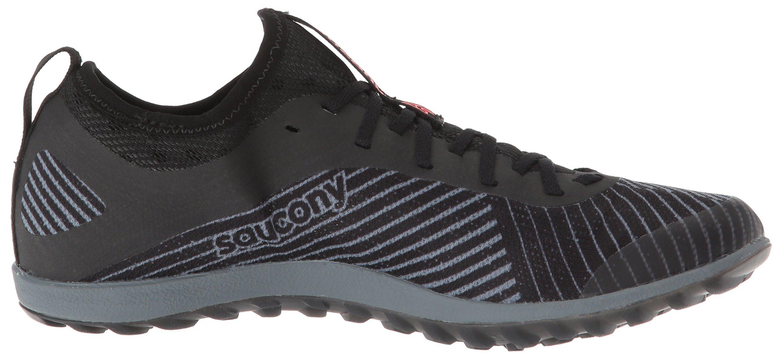 Saucony Women's Havok XC2 Flat Track Shoe Black/Grey/Vizi-red 7 M US by Saucony (Image #6)