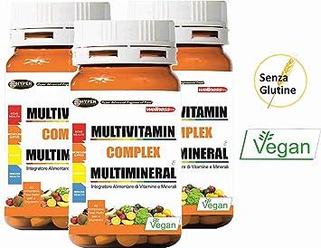 3 Paquetes Vitaminas y Minerales Multivitaminas 60 comprimidos (para un total de 180 tabletas): Amazon.es: Deportes y aire libre