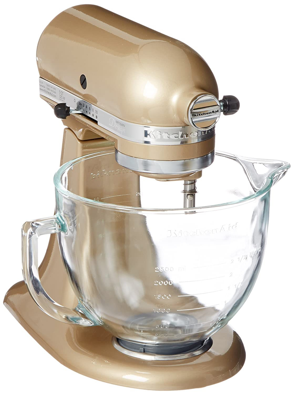 Amazon.com: KitchenAid KSM155GBCZ Artisan Design Series Glass Bowl ...