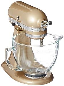 KitchenAid KSM155GBCZ Artisan Design Series Glass Bowl, 5 quart, Champagne