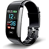 NAPPERBAND Fitness Tracker CK18S Activity Fit Watch GPS Pedometer Heart Rate Monitor Blood Pressure Sleep Tracking Calorie Counter iPhone Google Android Women Men