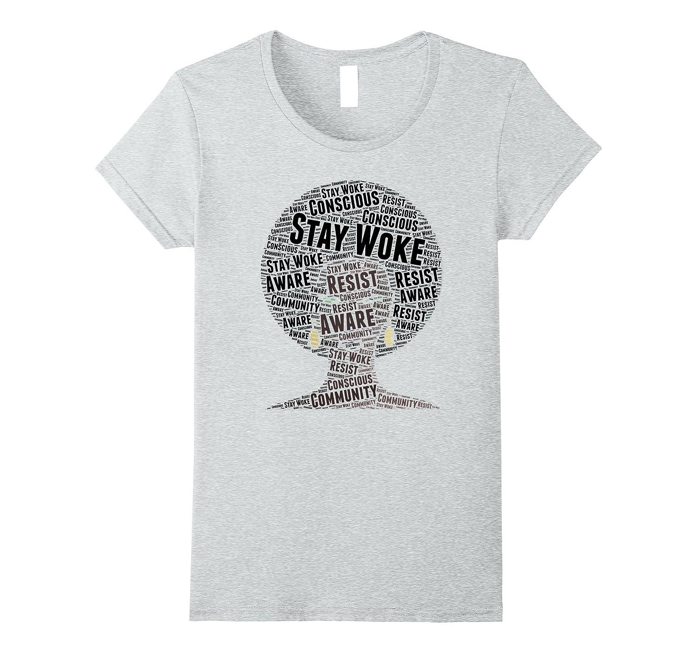 97484536e2 Afro Word Art Gift Melanin Pride T-Shirt-ANZ