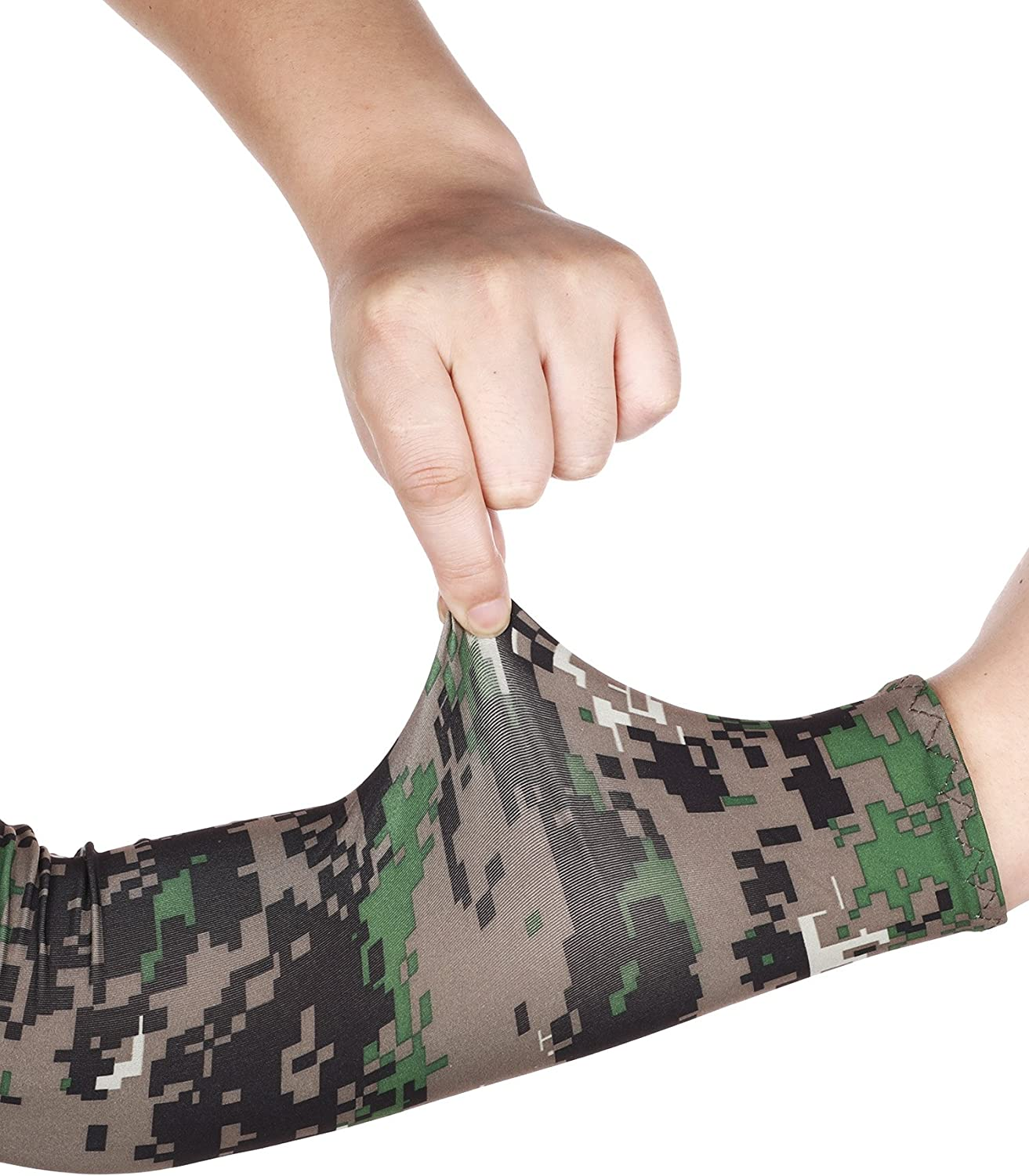 8 Pairs Unisex UV Protection Arm Cooling Sleeves Ice Silk Arm Cover Ice Silk, Camouflage