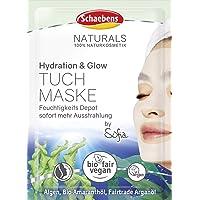Schaebens Naturals Hydratatie & Glow Doekmasker, 10 ml