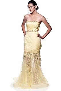 ONTBYB Womens Elegant Sleeveless V-Neck Semi-Formal Maxi Evening Dress