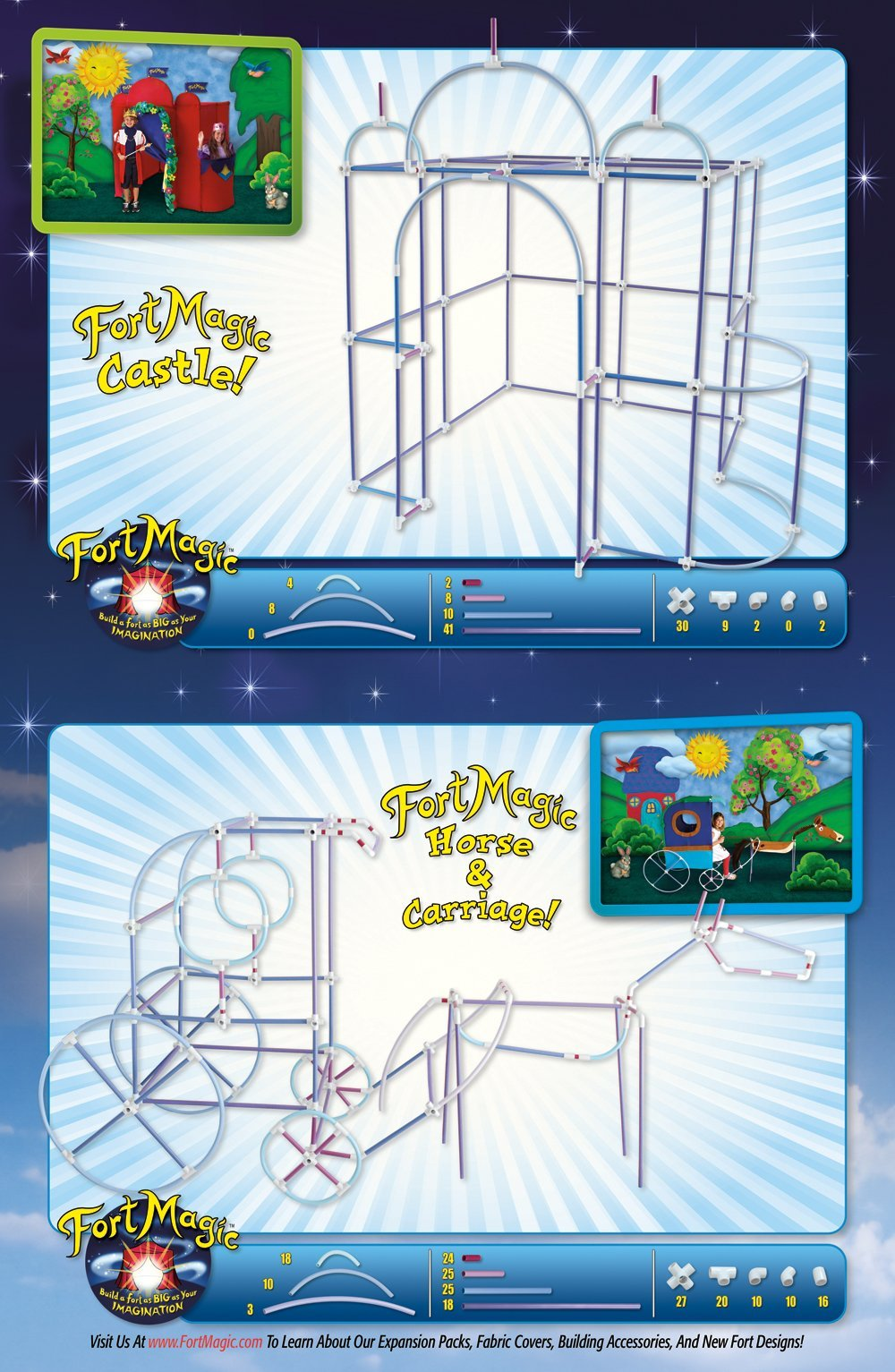 Fort Magic: Fort Building & Construction Toy Kit by Fort Magic (Image #5)