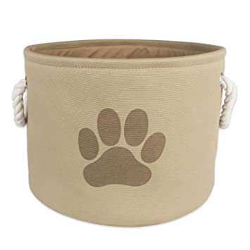 Great DII Bone Dry Small Round Pet Toy And Accessory Storage Bin, 12u0026quot;(Dia