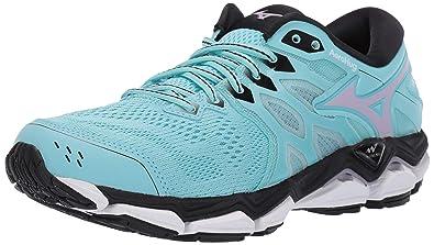 64819194e9396 Mizuno Women's Wave Horizon 3 Running Shoe, Angel Blue-Lavender Frost 6 ...