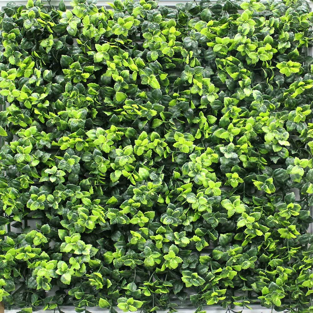 Youmeng De boj Artificial (Panel para Vertical Verde Pared decoración Artificial Cortasetos 20