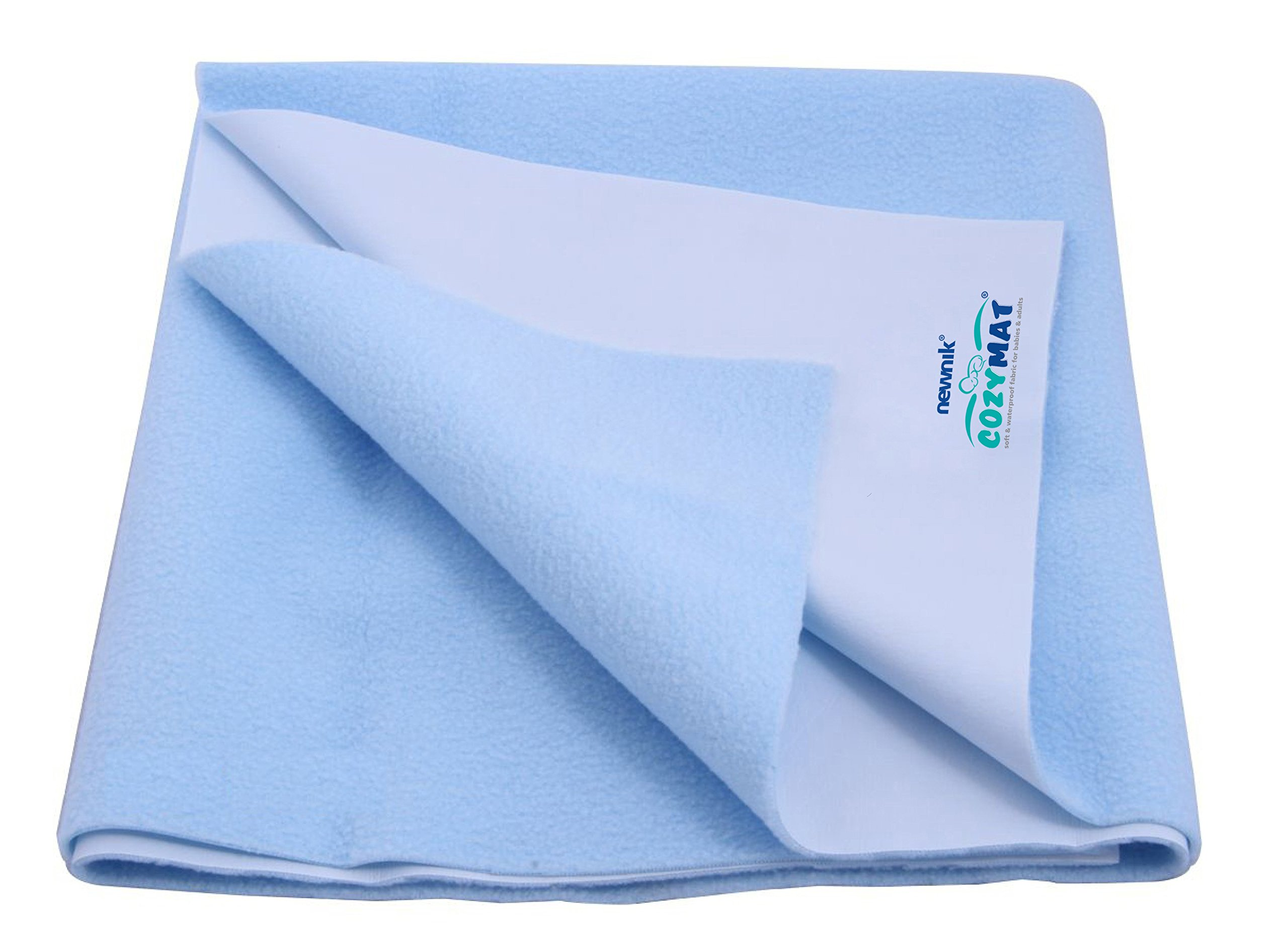 Cozymat Dry Sheet Waterproof Breathable Bed Protector (Size: 70cm X 100cm) Sky Blue, Medium by cozymat