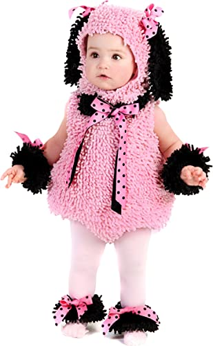 Pink Poodle Baby Girl Infant Cuddly First Halloween Warm Costume 12-18 Months