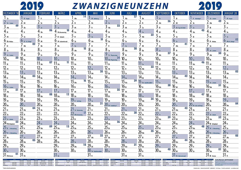 Calendario Lineal.Calendario Planificador De Pared 2019 De Boxclever Press
