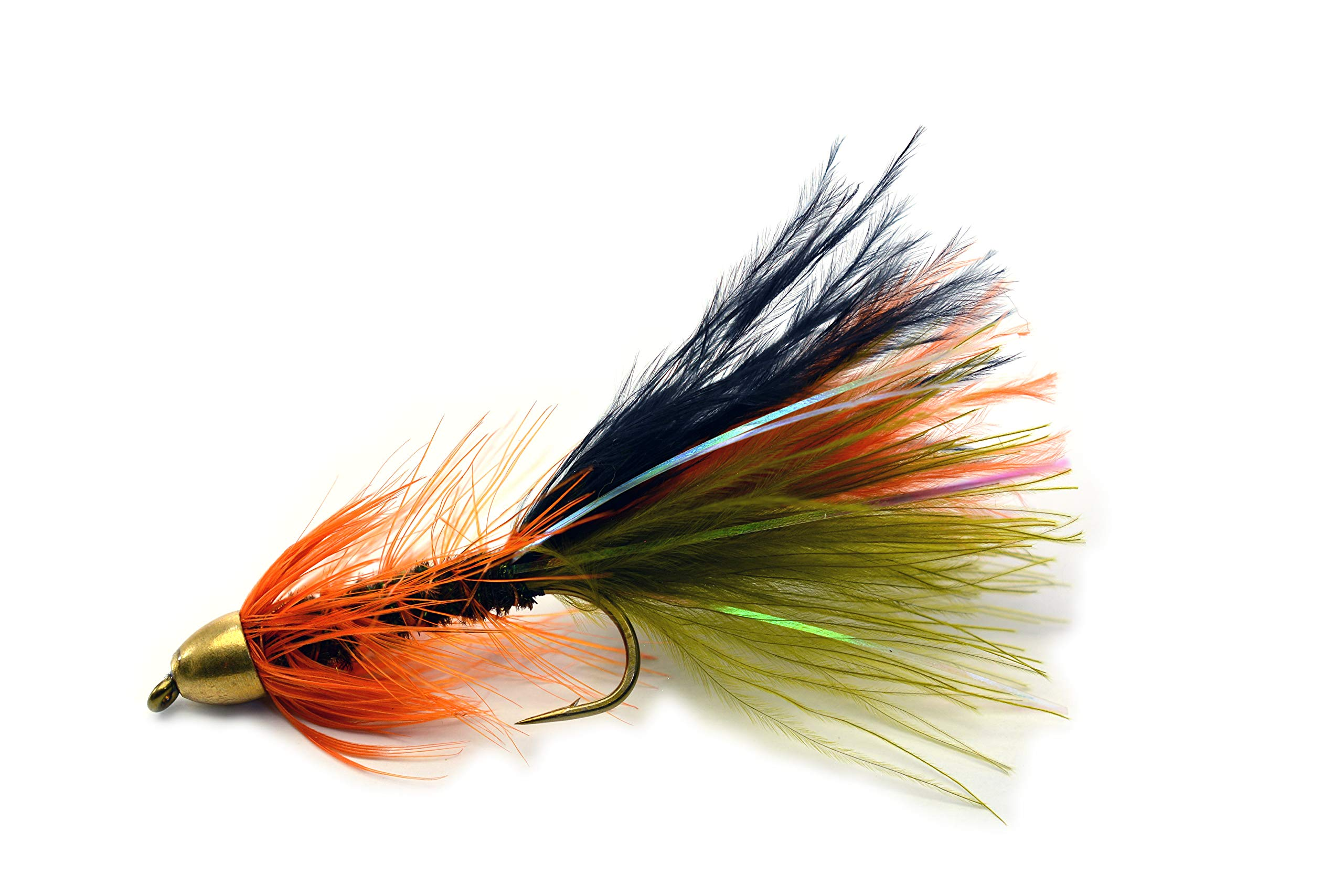 Thin Mint Streamer Fly Fishing Flies - Cone Head - Weighted - Mustad Signature Hooks - 1 Dozen Flies in Hook #6, 8 or Assorted - Trout Flies (Hook #10) by Region Fishing