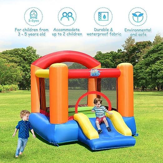 Amazon.com: Nueva colorida casa de rebote inflable al aire ...