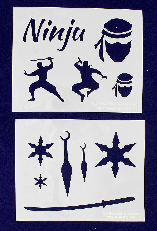 Amazon.com: Ninja Stencils - 2 Piece Set - 8 x 10 Inches