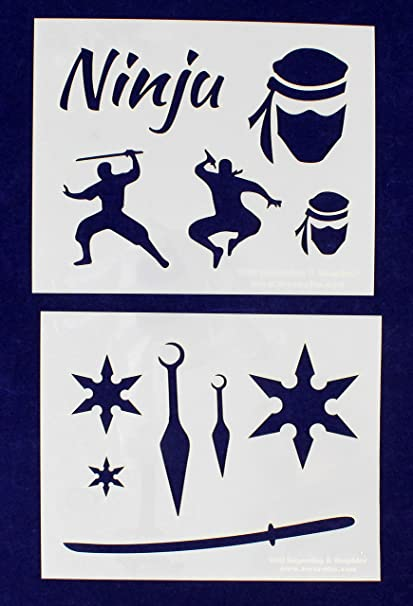 Amazon.com: Ninja plantillas – 2 piezas de Mylar de 14 mil 8 ...
